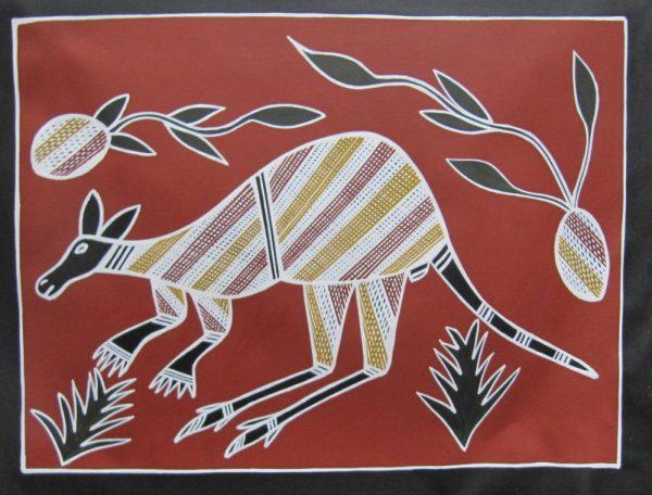 Kangaroo with Yams