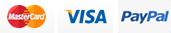 Mastercard, Visa, PayPal